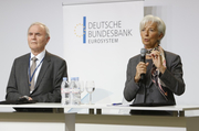 Otmar Issing and Christine Lagarde