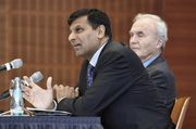 Raghuram Rajan, Governor of the Reserve Bank of India, and Otmar Issing, CFS President